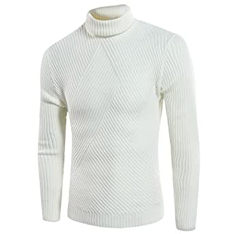 Pull Maille En Roulé Sweat Coton Youthup Homme Hiver Slim Casual Col Tgwqzd ae37b17976a