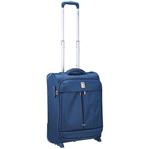 Trolley Valigia Da Cabina Ryan Air Delsey Blu 55 cm 2 Ruote Linea Flight