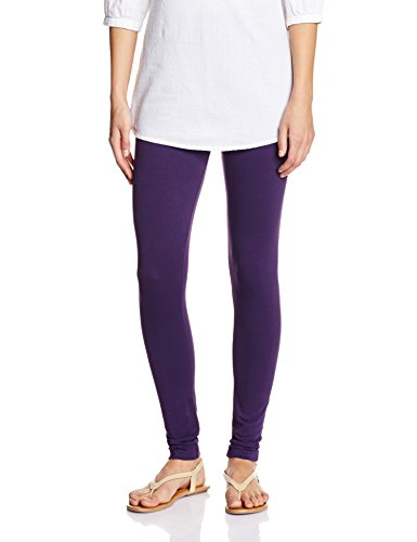 Myx Women's Cotton Stretch Leggings (AW16LEG01T_Deep Purple_Large)