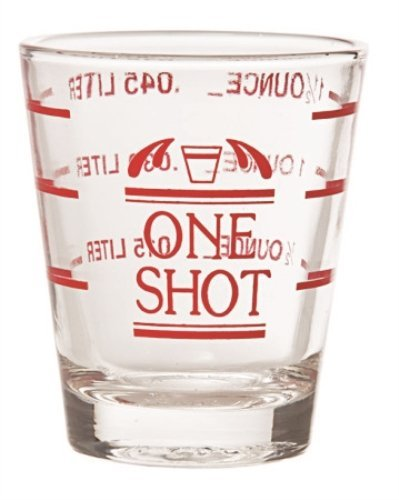 One Shot bicchierini in vetro trasparente con misure (Gourmet Mothers Day Gift)