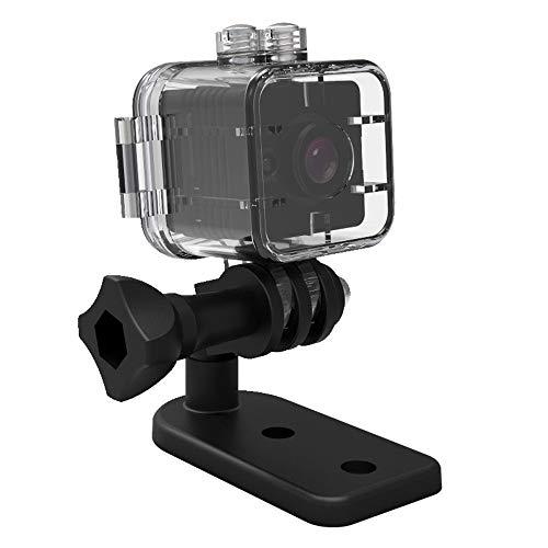 Tianu SQ12 - Mini cámara de visión nocturna HD 1080P con lente DVR deportiva y videocámara de gran angular y mini videocámara portátil