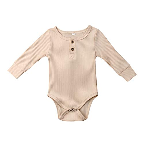 Overall Baby Sommer Toddler Long Sleeve Solid Romper Bodysuit Casual Clothes