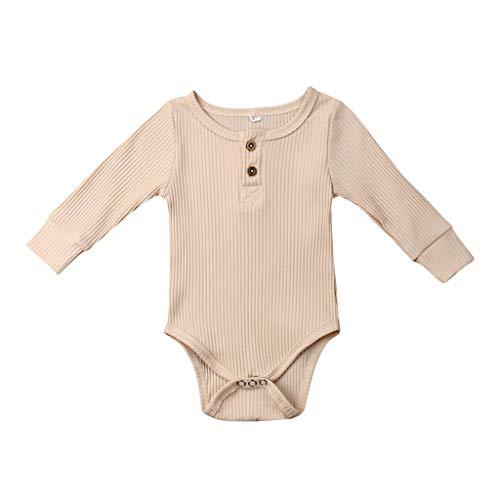 Realde Unisex Baby Mädchen Kleidung Kinder Langarm-Body im Mode Einfarbig Kleinkind Neugeborenes Kinderkleidung Partykleid Festlich Babybekleidung Abendkleid -