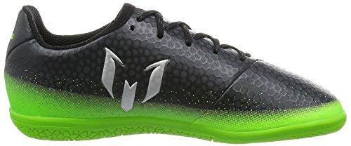 adidas Unisex-Kinder Messi 16.3 in Fußballschuhe Grau (Dark Grey/Silver Met./Solar Green)