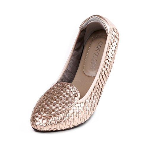 Cocorose London Scarpe Pieghevoli - Clapham Scarpe da Ballet Donna Rosa Oro