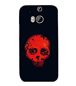 printtech Skull Fantasy Back Case Cover for HTC One M9::HTC M9::HTC One Hima