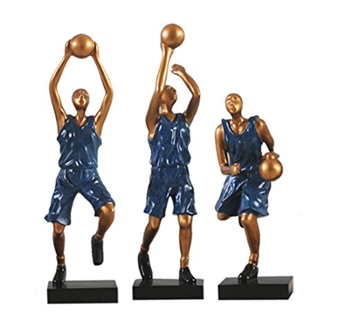 SUNGL Ornament Schreibtisch Harz Basketball Spieler Blau Modernen Entertaining Decor Skulptur Couchtisch Home Office