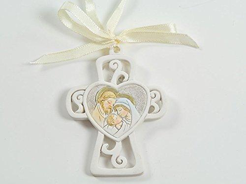 12Gastgeschenke Taufe Kommunion Konfirmation Junge Mädchen Kreuz Heilige Familie dgs50306