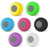 #8: Water Proof Bluetooth Shower Speaker With Mic Wireless Portable Stereo - Best for Bath, Pool, Car, Beach, Indoor/Outdoor Use (Multi colors )