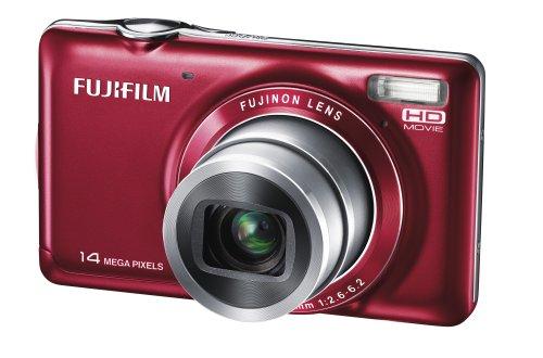 Fujifilm FINEPIX JX370 Digitalkamera (14 Megapixel, 5-fach optischer Zoom, 6,7 cm (2,7 Zoll) Display) rot
