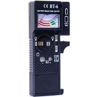 Allkit Battery, Bulb & Fuse Tester - Checks Power level of 1.5V and 9V Batteries & Fuse & Bulbs