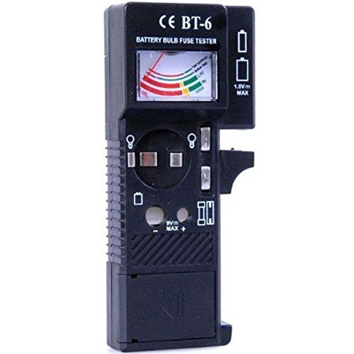 Allkit Batterietester universal digital 1,5V und 9V Testgerät Ladezustand Batterien Batterietestgerät Sicherungsprüfer Sicherungstester Glühbirnentester