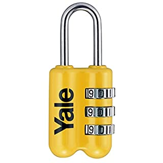Yale YP2/23/128/1/Y YP2/23/128/1Y Combination Padlock (Mixed Colour) 23 mm, Yellow