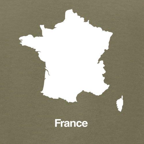 France / Frankreich Silhouette - Herren T-Shirt - 13 Farben Khaki