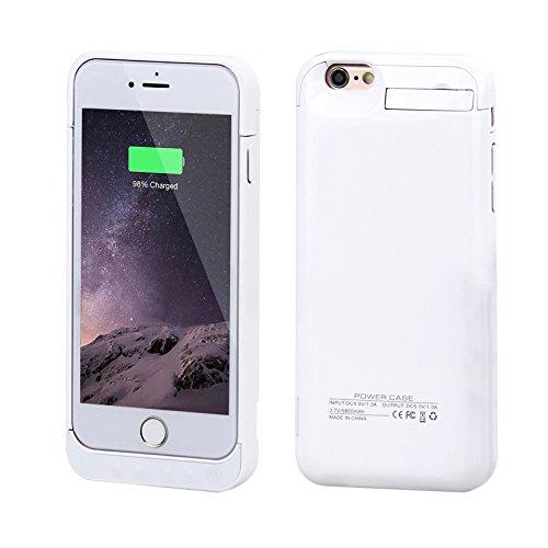 Custodia Batteria iPhone 6 / iPhone 6s ,FindaGift 5800mAh Copertura esterna batteria ricaricabile Copertura caricabatteria da banco di cassa antiurto per iPhone 6 / iPhone 6s bianca