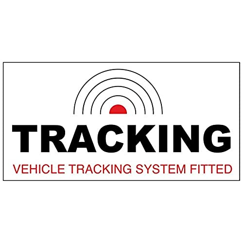 2 x tracking vehicle tracking tracker system fitted car sticker decal window dashboard