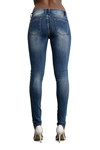 LustyChic Damen Jeanshose Flower Embellished Jeans