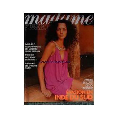 MADAME FIGARO du 24/01/2004 - MICHELE ALLIOT-MARIE - ANOREXIE - LES ENFANTS AUSSI - MODE - DECO - CUISINE - BEAUTE- EVASION EN INDE DU SUD.