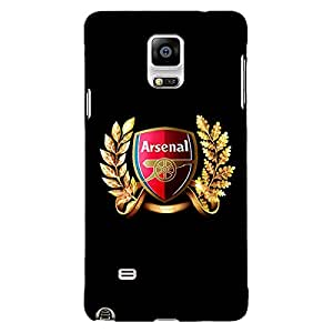 Jugaaduu Arsenal Back Cover Case For Samsung Galaxy Note 4