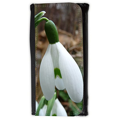 Portemonnaie Geldbörse Brieftasche // F00022403 Snow white Glockenblume // Large Size (White Geldbörse Snow)