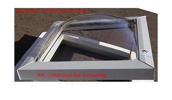Lichtkuppel 800x800 klar durchsichtig doppelschalig D/ämmung 3,1 W//m/²K,