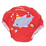 Piwapee - Baby Schwimmwindel Rot Delfin 4 - 8 KG