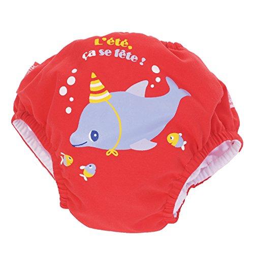 Piwapee - Costume Pannolino con sistema Anti Fuga Rosso Delfino 11-14 KG