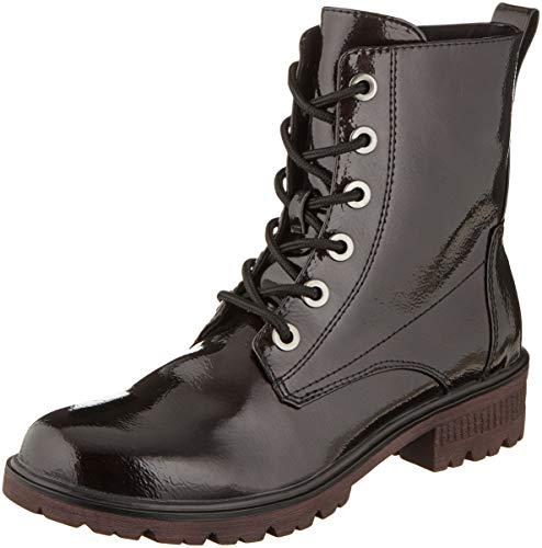 Tamaris Damen 1-1-25280-23 Combat Boots, Rot (Bordeaux Pat. 580), 40 EU