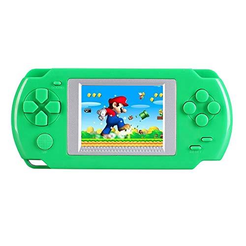 Teepao Joueur de Console de Jeu Portable, Lecteur de Jeu Rétro 16 Bits avec Grand écran LCD DE 2,0'et 268 Jeux Classiques Intégrés, Meilleur Cadeau pour Les Enfants (Vert)