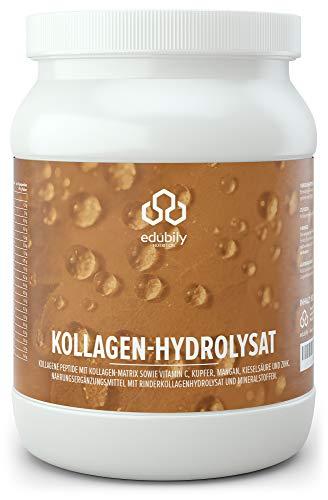 Kollagen Hydrolysat Pulver. Kollagen Pulver mit Zink, Mangan, Kupfer, Kieselsäure & natürlichen Vitamin C. Geschmacksneutral. In Deutschland hergestellt. 500 g