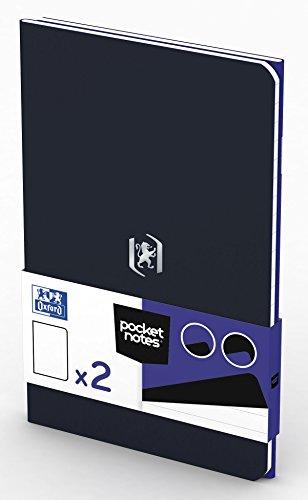 OXFORD 400077743 Notizheft Pocket Notes Duo-Pack 2 Stück 9x14 cm 48 linierte Seiten royalblau und schwarz - für individuelle Notizen Skizzenbuch Taschenbuch Reisebuch Notizblock Notebook Travel Diary (Pack Travel Duo)