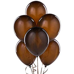 Shatchi 11152-BALLOONS-DARK-BROWN-025-pcs 25 piezas de globos de chocolate marrón decoraciones de boda cumpleaños Anniverasry Favours Party Fillers Goody Bag
