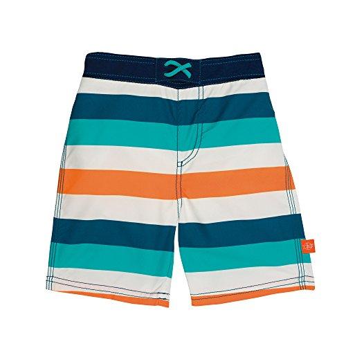 Lässig 1431009905 Baby Board Shorts Badehose, Multistripe, 6 Monate, mehrfarbig