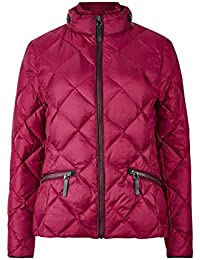 Ex-Store Womens Raspberry Duck & Down Quilted Lightly Padded Stormwear Jacket 8-16