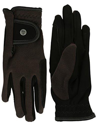 RTS Kinder Reit Handschuhe, Schwarz, 12-S