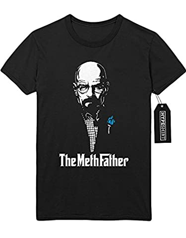 T-Shirt Breaking Bad Walter White Meth Father C980062 Schwarz XL (Walt Breaking Bad Kostüm)