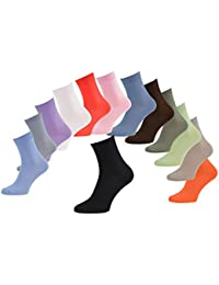 6, 9 ou 12 paires de chaussettes en Bambou pour Femme et Homme, disponibles en 13 couleurs, douces et confortables, fabriquées en UE, tailles by Rainbow Socks