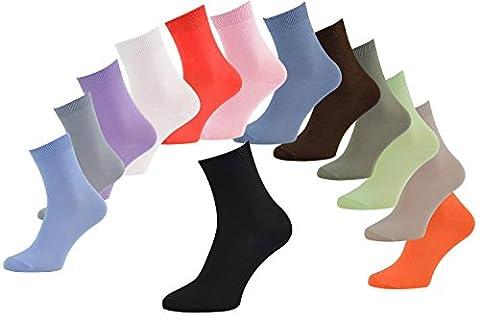6 paires de chaussettes en Bambou pour Femme et Homme, blanc rose violet bleu pistache beige , EUR: 42 43, douces et confortables, fabriquées en UE, tailles by Rainbow Socks