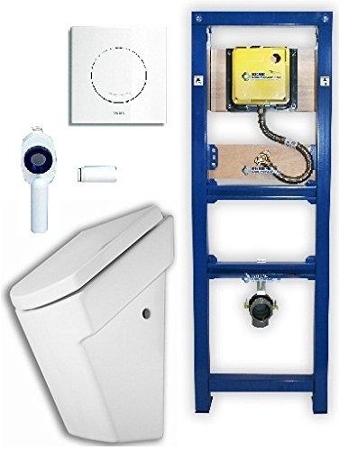 Urinal Komplettset: Urinal ROCA Hall, Wisa Excellent XS Urinalelement, Platte Argos