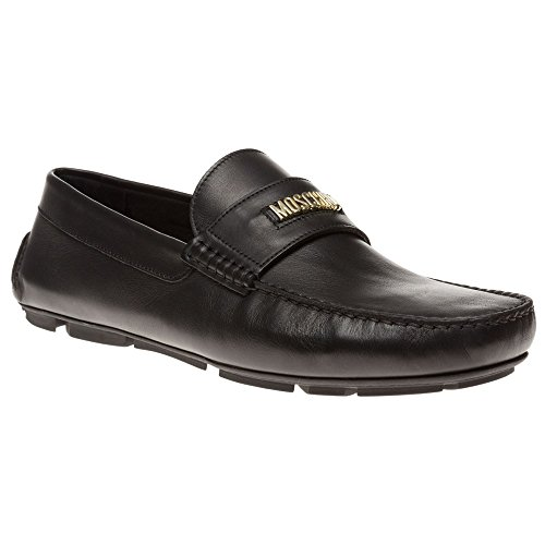 Moschino Large Logo Slip On Homme Chaussures Noir Black