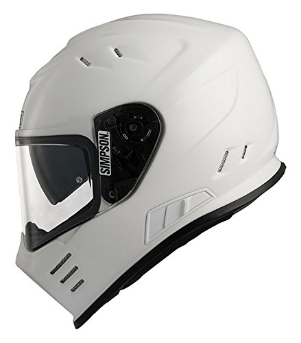 Simpson Venom casco, color blanco, talla L