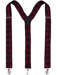 Unisex Braces Clip Suspenders Adjustable Elastic Shoulder Strap