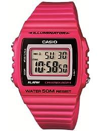 Casio W-215H-4AVEF - Reloj digital de cuarzo para hombre con correa de resina, color rojo
