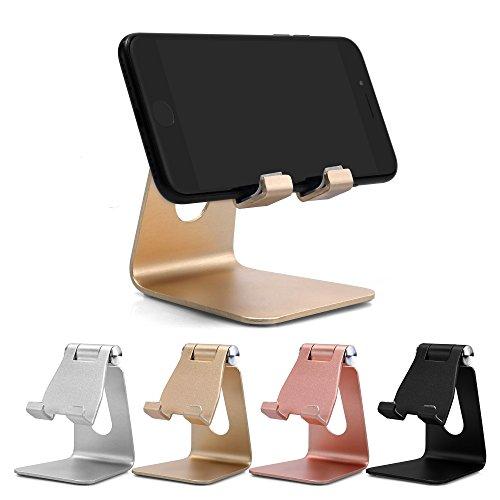 UGI [4 Pack] Handy-Halter, Aluminium Tischtelefon & Tablets Halter Metall Halterung Multi-Winkel-Nutzung