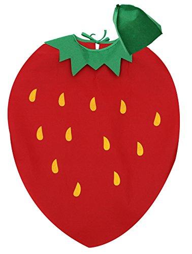 Kleinkind Kostüm Erdbeere - Eozy Unisex Kinder Kürbis Kostüm Kleinkind Halloween Fasching Obst Kostüm mit Hut Erdbeere