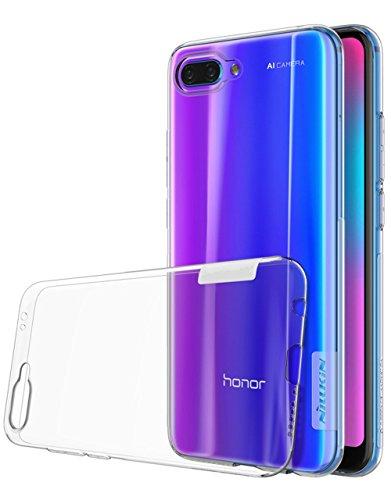 Voigeer Custodia Huawei Honor 10, Paraurti Morbido in Cristallo Trasparente TPU [Tecnologia di Assorbimento Delle Scosse] Coperchi Protetti di Protezione per Huawei Honor 10 - Clear