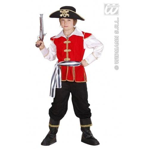Widmann-WDM74547 Kostüm für Mädchen, Weiß Rot Schwarz, WDM74547 (80er Party Kostüm Ideen Für Jungs)