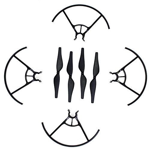 KEESIN Tello Propeller CW CCW Geräuscharme Propeller Requisiten Klinge und Propeller Prop Guard für DJI Tello Drone Schwarz (Guard Propeller)