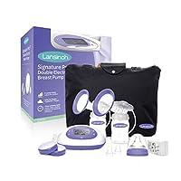 مضخة حليب ثدي سيغناتشر برو كهربائية مزدوجة ومحمولة مع ادوات اساسية للضخ وحقيبة حمل