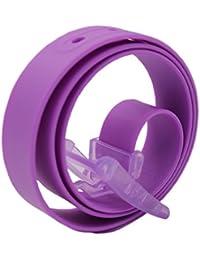 467fb19e53b8 MESHIKAIER Bonbon Couleur Fashion Ceinture Unisexe en Silicone avec Boucle  Plastique